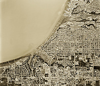 historical aerial photo map of Anchorage, Alaska, 1972