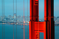 The Golden Gate Bridge in the evening, San Francisco, California