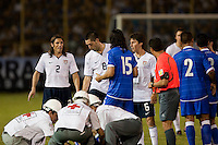 US Men's National Team and El Salvador National Team along with medics during FIFA World Cup qualifier against El Salvador. USA tied El Salvador 2-2 at Estadio Cuscatlán Stadium in El Salvador on March 28, 2009.