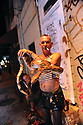 Man with snake on Frenchmen Street, 2010