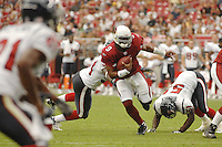 Aug 18, 2007; Glendale, AZ, USA; Arizona Cardinals quarterback Shane Boyd (9) rushes the ball against the Houston Texans at University of Phoenix Stadium. Mandatory Credit: Mark J. Rebilas-US PRESSWIRE Copyright © 2007 Mark J. Rebilas