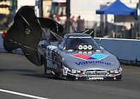 Aug. 1, 2014; Kent, WA, USA; NHRA funny car driver Jack Beckman during qualifying for the Northwest Nationals at Pacific Raceways. Mandatory Credit: Mark J. Rebilas-