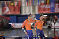SPEEDSKATING: Calgary, The Olympic Oval, 06-02-2020, ISU World Cup Speed Skating, training, Chris Huizinga (NED), Douwe de Vries (NED), ©foto Martin de Jong