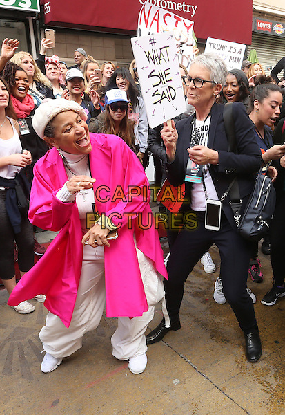ALos Angeles CA - JANUARY 21: Debbie Allen, Jamie Lee Curtis, At Women's March Los Angeles, At Downtown Los Angeles In California on January 21, 2017. <br /> CAP/MPI/FS<br /> ©FS/MPI/Capital Pictures