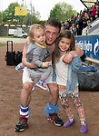 St Johnstone v Motherwell.....19.05.13      SPL.Chris Millar with his daughters.Picture by Graeme Hart..Copyright Perthshire Picture Agency.Tel: 01738 623350  Mobile: 07990 594431