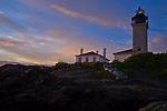 Jamestown Beavertail lighthouse, Jamestown, RI. Photographed at sunset on Tuesday, Aug. 16, 2011.