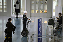 Police officer on Segway patrolling Haneda Airport