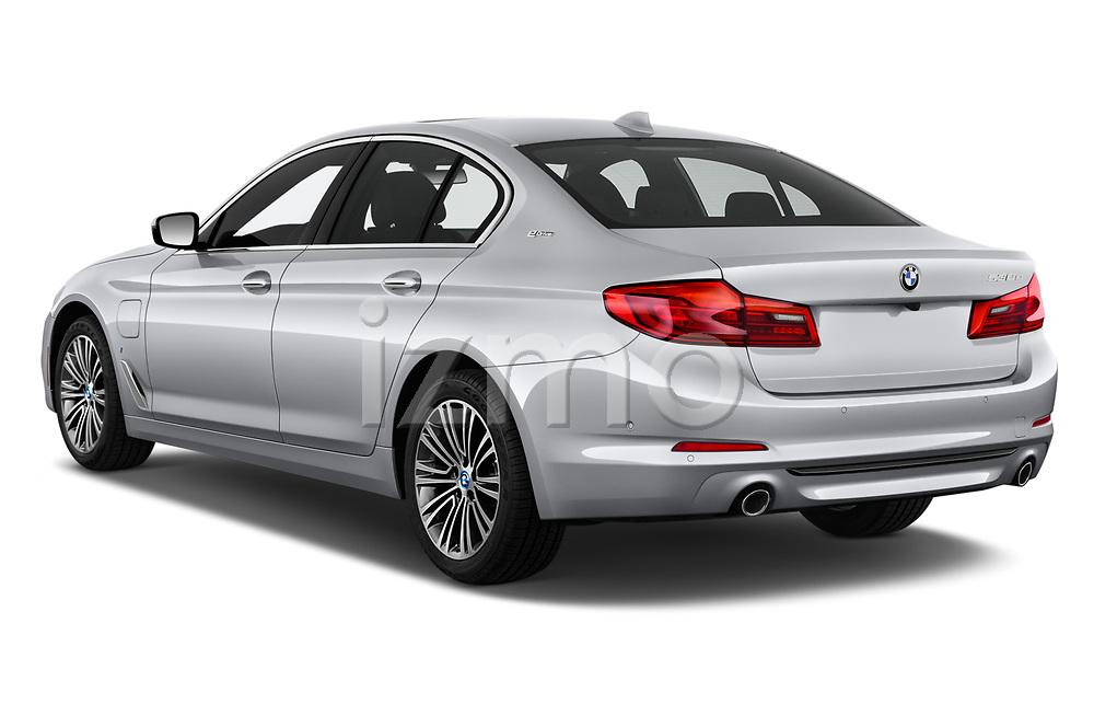 Car pictures of rear three quarter view of a 2018 BMW 5 Series 530e iPerformance 4 Door Sedan angular rear