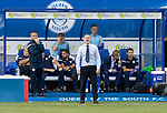 Queen of the South v St Johnstone…18.08.18…  Palmerston    BetFred Cup<br />Gary Naysmith shouts instructions<br />Picture by Graeme Hart. <br />Copyright Perthshire Picture Agency<br />Tel: 01738 623350  Mobile: 07990 594431