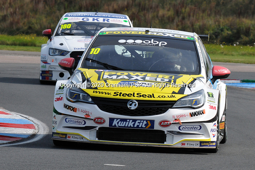 Round 5 of the 2020 British Touring Car Championship. #10 Rob Austin. Power Maxed Car Care Racing. Vauxhall Astra