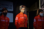 Rally Cycling at the team presentations before the start of Liege-Bastogne-Liege Femmes 2021, running 141km from Bastogne to Liege, Belgium. 25th April 2021.  <br /> Picture: A.S.O./Gautier Demouveaux | Cyclefile<br /> <br /> All photos usage must carry mandatory copyright credit (© Cyclefile | A.S.O./Gautier Demouveaux)