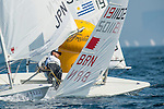 Abdulla Janahi from Bahrein in action during the ISAF Sailing World Championships 2014 at the Real Club Maritimo of Santander on September 12, 2014 in Santander, Spain. Photo by Nacho Cubero / Power Sport Images
