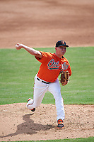 Baltimore Orioles pitcher Cody Dube (60) during an Instructional League game against the Tampa Bay Rays on September 19, 2016 at Ed Smith Stadium in Sarasota, Florida.  (Mike Janes/Four Seam Images)