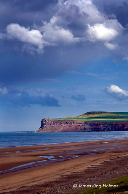 The beach at Marske-by-the-Sea, Cleveland, looking north towards Saltburn