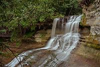 (Film) The upper view of Laughing Whitefish Falls. Alger County, MI - Kodak Ektar 100 film