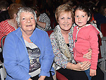 Noleen Bell, Bernie and Leah Byrne pictured at the Drogheda Town FC dance show in the TLT. Photo:Colin Bell/pressphotos.ie