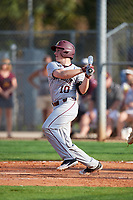 Minnesota Golden Gophers catcher Cole McDevitt (10) at bat during a game against the Boston College Eagles on February 23, 2018 at North Charlotte Regional Park in Port Charlotte, Florida.  Minnesota defeated Boston College 14-1.  (Mike Janes/Four Seam Images)