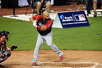 Los Angeles Angels Albert Pujols during the MLB Home Run Derby on July 13, 2015 at Great American Ball Park in Cincinnati, Ohio.  (Mike Janes/Four Seam Images)