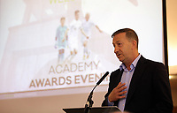 Pictured: Club chairman Huw Jenkins (R) Saturday 27 May 2017<br /> Re: Swansea City FC Academy Awards Evening at the Liberty Stadium, Wales, UK