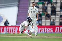 Ajinkya Rahane, India struggles to make his ground during India vs New Zealand, ICC World Test Championship Final Cricket at The Hampshire Bowl on 19th June 2021