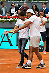 Cayetano Rivera Ordoñez and Rafa Nadal during the Charity Day of the Mutua Madrid Open at Caja Magica in Madrid. April 29, 2016. (ALTERPHOTOS/Borja B.Hojas)