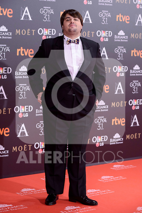 Brays Efe attends to the Red Carpet of the Goya Awards 2017 at Madrid Marriott Auditorium Hotel in Madrid, Spain. February 04, 2017. (ALTERPHOTOS/BorjaB.Hojas)