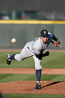Scranton Wilkes-Barre Yankees relief pitcher Eric Wordkemper #39 delivers a pitch during a game against the Rochester Red Wings at Frontier Field on April 9, 2011 in Rochester, New York.  Rochester defeated Scranton 7-6 in twelve innings.  Photo By Mike Janes/Four Seam Images