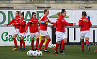 20190227 - LARNACA , CYPRUS : Austrian players pictured during warming up of the women's soccer game between the Super Falcons of Nigeria and Austria , on Wednesday 27 February 2019 at the AEK Arena in Larnaca , Cyprus . This is the first game in group C for both teams during the Cyprus Womens Cup 2019 , a prestigious women soccer tournament as a preparation on the Uefa Women's Euro 2021 qualification duels. PHOTO SPORTPIX.BE | DAVID CATRY