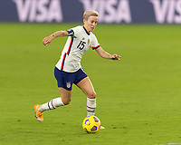 ORLANDO, FL - JANUARY 22: Megan Rapinoe #15 dribbles the ball during a game between Colombia and USWNT at Exploria stadium on January 22, 2021 in Orlando, Florida.