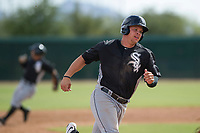 Corey Zangari (44) of the Chicago White Sox rounds third base during an Instructional League game against the San Diego Padres on September 26, 2017 at Camelback Ranch in Glendale, Arizona. (Zachary Lucy/Four Seam Images)