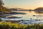 Sunset on the Schoodic Peninsula of Acadia National Park, Maine, USA