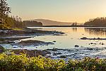 Sunset on the Schoodic Peninsula of Acadia National Park, Maine, USA