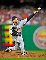 6 June 2009: New York Mets' pitcher Ken Takahashi in action against the Washington Nationals at Nationals Park in Washington, DC. The Mets fell to the Nationals 7-1 as Nats' starting pitcher John Lannan tossed his first career complete-game win. Mandatory Credit: Ed Wolfstein Photo