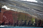 View Of Red & Green Cliffs From Neptune's Bellows, Antarctic Peninsula