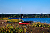 Small sailboat in Nauset harbor, Orleans, Cape Cod