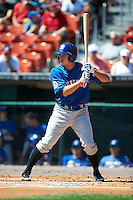 Buffalo Bisons outfielder Matt Den Dekker #22 during an International League game against the Empire State Yankees at Coca-Cola Field on August 21, 2012 in Buffalo, New York.  Empire State, who was the home team because of stadium renovations, defeated Buffalo 4-2.  (Mike Janes/Four Seam Images)