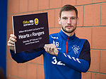 28.02.2020 Rangers training: Borna Barisic looking ahead to the Scottish Cup match against Hearts