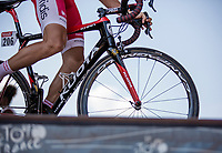 Anthony Perez (FRA/Cofidis) at the pre race sign on.<br /> <br /> Stage 9: Arras Citadelle > Roubaix (154km)<br /> <br /> 105th Tour de France 2018<br /> ©kramon