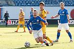 20.02.2021, xtgx, Fussball 3. Liga, FC Hansa Rostock - SV Waldhof Mannheim, v.l. Nik Omladic (Hansa Rostock, 21), Max Christiansen (Mannheim, 13) Zweikampf, Duell, Kampf, tackle <br /> <br /> (DFL/DFB REGULATIONS PROHIBIT ANY USE OF PHOTOGRAPHS as IMAGE SEQUENCES and/or QUASI-VIDEO)<br /> <br /> Foto © PIX-Sportfotos *** Foto ist honorarpflichtig! *** Auf Anfrage in hoeherer Qualitaet/Aufloesung. Belegexemplar erbeten. Veroeffentlichung ausschliesslich fuer journalistisch-publizistische Zwecke. For editorial use only.