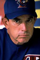 Toronto Blue Jays Manager Buck Martinez during a 2001 season MLB game at Angel Stadium in Anaheim, California. (Larry Goren/Four Seam Images)
