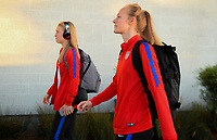 San Jose, CA - Sunday November 12, 2017: Emily Sonnett, Becky Sauerbrunn during an International friendly match between the Women's National teams of the United States (USA) and Canada (CAN) at Avaya Stadium.