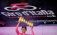 Egan Bernal (COL/Ineos Grenadiers) wins the 104th Giro d'Italia 2021 (2.UWT) and gets to take the prestigious Trofeo Senza Fine home.<br /> <br /> Stage 21 (final ITT) from Senago to Milan (30.3km)<br /> <br /> ©kramon
