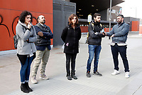 Alessandro Ferrara, the lawyer who drew up the document for the 41 migrants (senior left) and Giovanna Cavallo, legal responsible for Baobab experience (third from left)<br /> Rome February 22nd 2019. Tiburtina Station. Press conference of the lawyers of the 41 migrants that asked for compensation to the Minister of Internal Affairs Matteo Salvini and to the Premier Giuseppe Conte. Last August 20th a ship, carrying 177 migrants (among them many minors) docked in the harbour of Catania but Minister Salvini took the decision to block migrants of Diciotti ship at sea. That's the reason why the ministers will be prosecuted by the migrants, that will ask 42 to 71 thousand Euros each as a compensation.<br /> Foto Samantha Zucchi Insidefoto