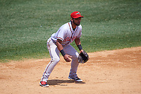 Richmond Flying Squirrels shortstop Ali Castillo (7) during a game against the Binghamton Mets on June 26, 2016 at NYSEG Stadium in Binghamton, New York.  Binghamton defeated Richmond 7-2.  (Mike Janes/Four Seam Images)