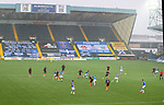 01.11.2020 Kilmarnock v Rangers:  Rugby Park lashed with rain towrds the end of the game
