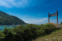Raya resort viewpoint and sign, Raya island, Thailand