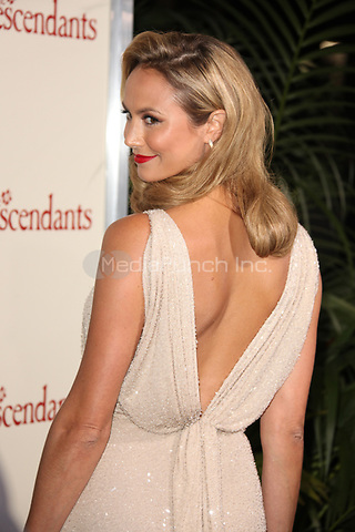 Stacy Keibler at the Los Angeles Premiere of 'The Descendants' at AMPAS Samuel Goldwyn Theater on November 15, 2011 in Beverly Hills, California ©mpi21/MediaPunch Inc.