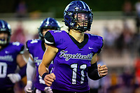 Bladen Fike (11) of Fayetteville coming off the field against North Little Rock at Harmon Field , AR, on Friday,September 10, 2021 / Special to NWADG David Beach