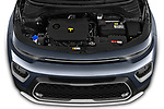 Car stock 2020 KIA Soul  X-Line 5 Door Hatchback engine high angle detail view