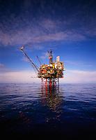 Oil production platform North Sea